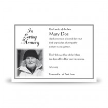 Black and white border No 2 Acknowledgement Card