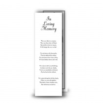 Black and white border No 2 Bookmarker