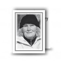 Black and white border No 2 Standard Memorial Card