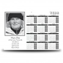 Black and white border No 2 Calendar Single Page