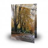 Autumn Lane Folded Memorial Card