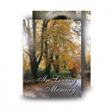 Autumn Lane Standard Memorial Card