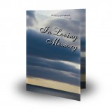 Clouds Over Sea Folded Memorial Card