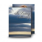 Clouds Over Sea Standard Memorial Card