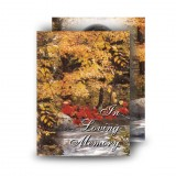 Autumn Scene Standard Memorial Card