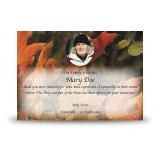Autumn Leaves Acknowledgement Card