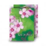 Pink Primroses Standard Memorial Card
