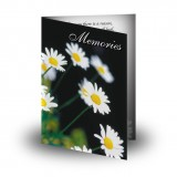 Daisies Folded Memorial Card