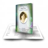 Purple Petunia Funeral Book