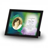 Purple Petunia Framed Memory
