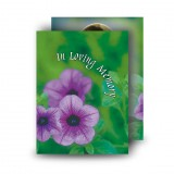 Purple Petunia Standard Memorial Card