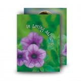 Purple Petunia Standard Memorial Card