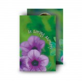 Purple Petunia Wallet Card