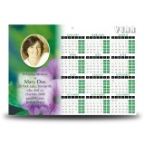 Purple Petunia Calendar Single Page