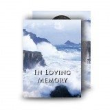 Breaking Waves of Donegal Standard Memorial Card