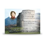 Castle Ruins Scotland Acknowledgement Card