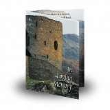 Castle Ruins Scotland Folded Memorial Card