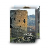 Castle Ruins Scotland Standard Memorial Card