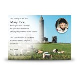 Devenish Island Co Fermanagh Acknowledgement Card