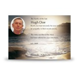 Golden Sea Shore Co Derry Acknowledgement Card
