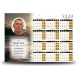Golden Sea Shore Co Derry Calendar Single Page