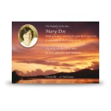 Lake Sunset Co Westmeath Acknowledgement Card