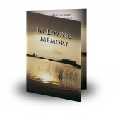Dawn over Lake Co Cavan Folded Memorial Card