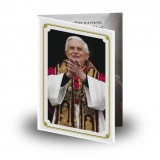 Pope Benedict Folded Memorial Card