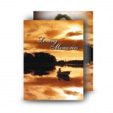Upper Lough Erne Sunset Co Fermanagh Standard Memorial Card