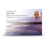 Lower Lough Erne Sunrise Co Fermanagh Acknowledgement Card