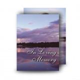 Lower Lough Erne Sunrise Co Fermanagh Standard Memorial Card
