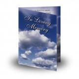 Sky Clouds Folded Memorial Card