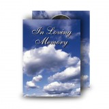 Sky Clouds Standard Memorial Card