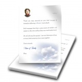 Sky Clouds Thank You Letter