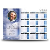 Sky Clouds Calendar Single Page