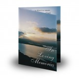 Sunlight Folded Memorial Card