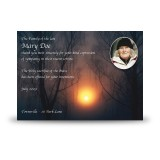 Sun Trees Acknowledgement Card