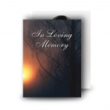 Sun Trees Standard Memorial Card