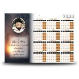 Sun Trees Calendar Single Page