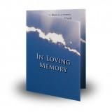 Cloudburst Back Folded Memorial Card