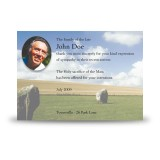 Standing Stones Co Kildare Acknowledgement Card