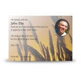 Wheat Sunset Acknowledgement Card