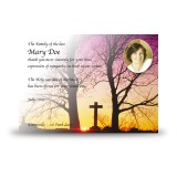 Cross & Tree Sunset Acknowledgement Card