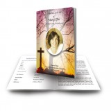 Cross & Tree Sunset Funeral Book