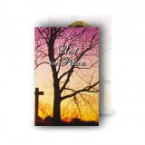 Cross & Tree Sunset Wallet Card