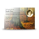 Autumn Acknowledgement Card