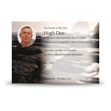 Sea Rocks Co Wexford Acknowledgement Card
