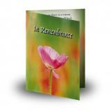 Poppy Flower Folded Memorial Card