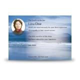 Sea Hills Clouds Co Limerick Acknowledgement Card