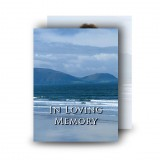Sea Hills Clouds Co Limerick Standard Memorial Card